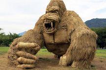 В провинции Ройет установят скульптуры из рисовой соломы