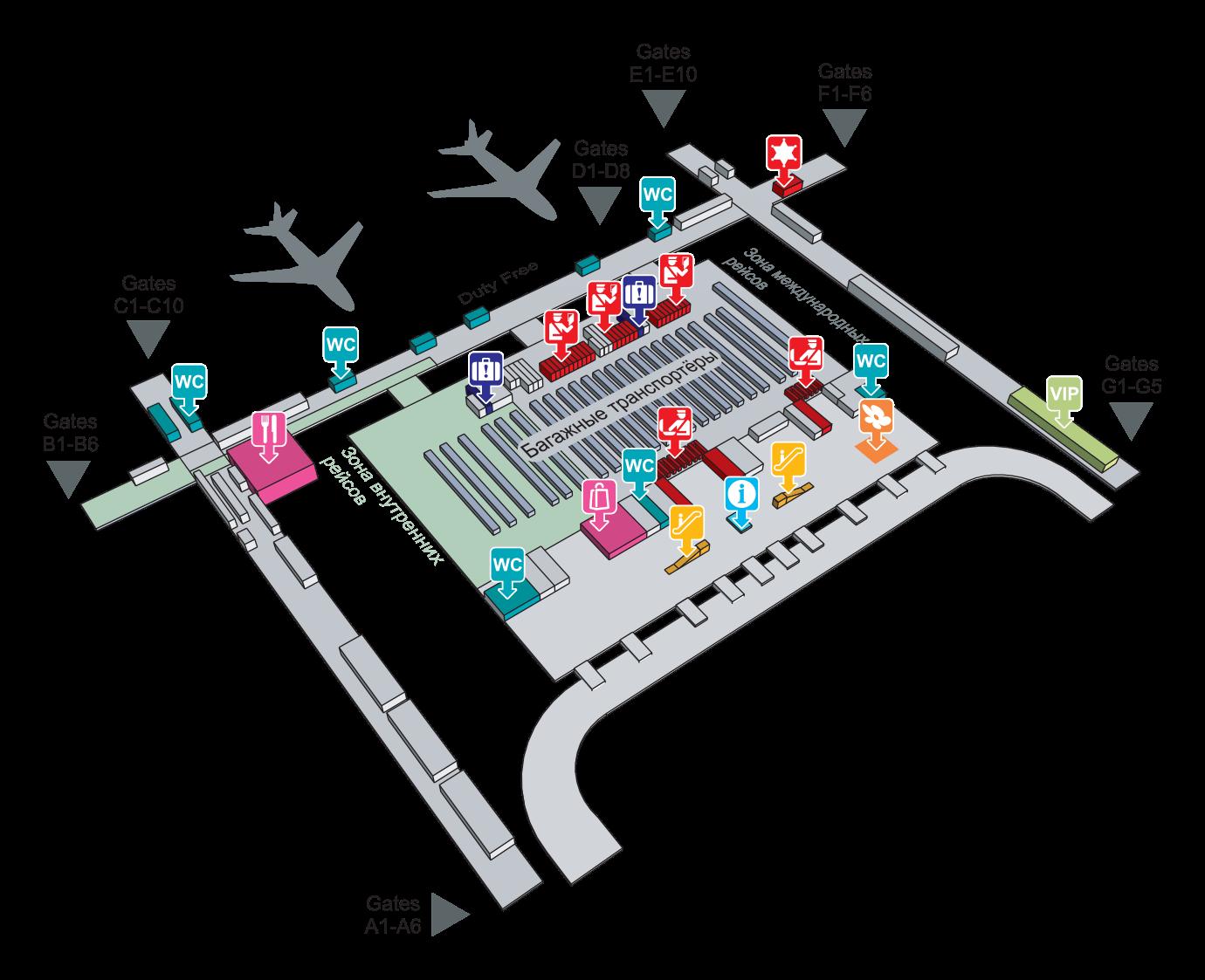 План аэропорта Суварнабхуми