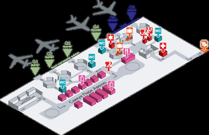 План аэропорта Самуи