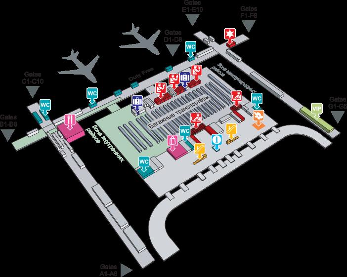 План аэропорта Бангкока