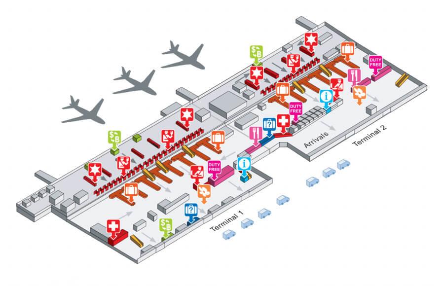 План аэропорта Донмыанг